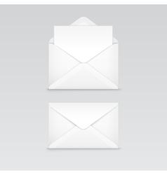 set white blank envelope isolated vector image