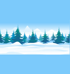 snowy path along forest game background vector image