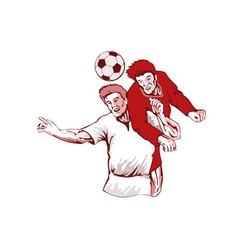 Soccer Player Header Bust vector