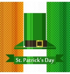 st patrick day irish flag vector image