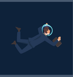 successful businessman in suit and astronaut vector image
