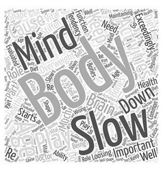 The body and mind in healthy aging word cloud vector