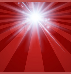 the sun radiation retro red background vintage vector image