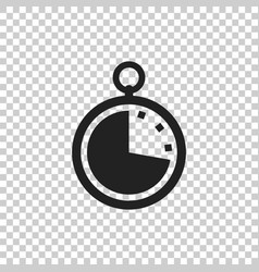 timer icon flat clock pictogram vector image