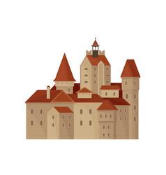 Transylvania s bran castle or residence count vector