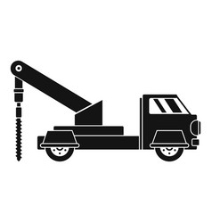 Truck drill icon simple style vector