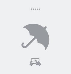 Umbrella symbol - minimal icon vector
