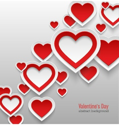Valentines day abstract background vector image