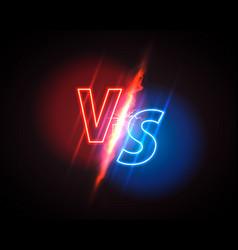 Versus game cover neon banner sport vs team vector