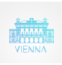 Vienna state opera the symbol of austria vector