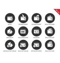 Wallet icons on white background vector image