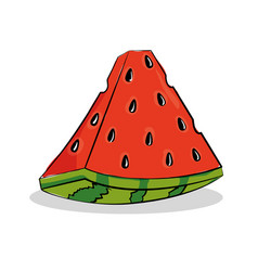 Watermelon fresh and healthy fruit vector