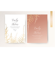wedding invite luxury modern invitation golden vector image