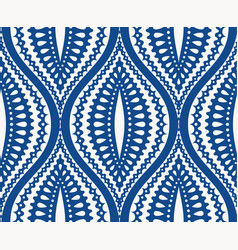 White blue ogee pattern vector