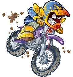 BMX Dirt Bike Rider vector image