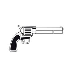 Gun pistol bullets ornate detailed tattoo design vector