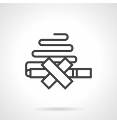 Quit smoking simple line icon vector image