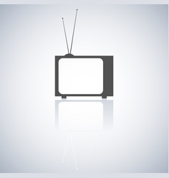 the tv icon vector image