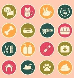veterinary icon vector image