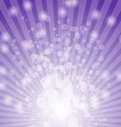 Abstract bokeh on violet background vector image