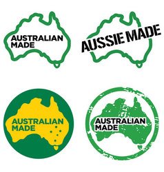 Australian made logos vector image