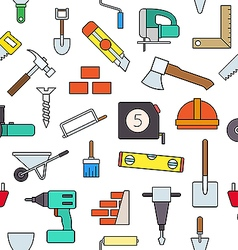 Construction colorful pattern icons vector image vector image