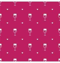 flat minimalistic wine seamless pattern vector image