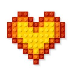 heart made plastic blocks vector image