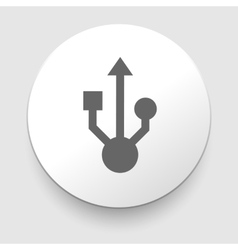 Usb sign for interface electronic hardware vector image