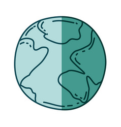 Aquamarine hand drawn silhouette of map world vector