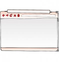 browser window vector image