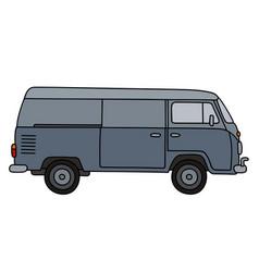 classic gray minivan vector image
