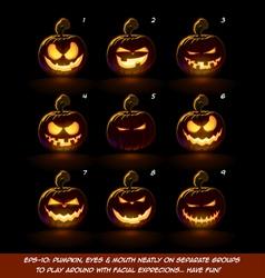 Dark Jack O Lantern Cartoon 9 Mean n Naughty vector image