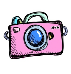 Doodle digital camera vector image