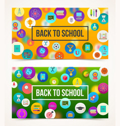 welcome back to school - two banners vector image vector image