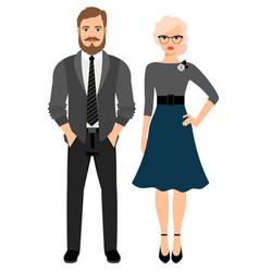 business style fashion couple vector image