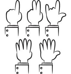 cartoon hand gesture vector image vector image
