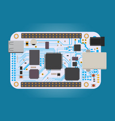 diy electronic mega board with a micro-controller vector image