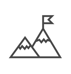 mountains thin line icon vector image