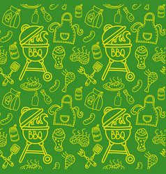 seamless pattern for barbecue vector image vector image