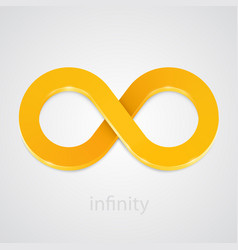 Abstract infinity gold sign vector
