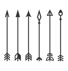 Arrows set on white background vector