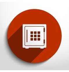Bank safe web icon vector