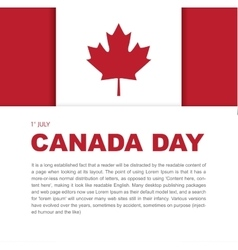 Banner design elements for Canada Day 1st of July vector