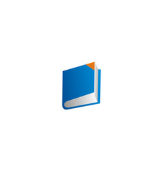 book education knowledge logo vector image