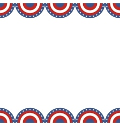 Border of American flag vector