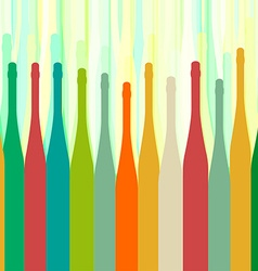 Bottles colorful background abstract vector image