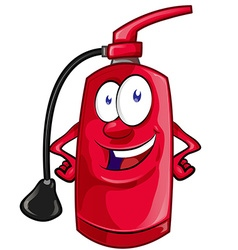 Cartoon Character of fire extinguisher vector