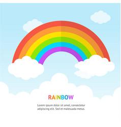 cartoon color rainbow concept banner card vector image