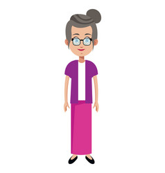 character female memeber family vector image